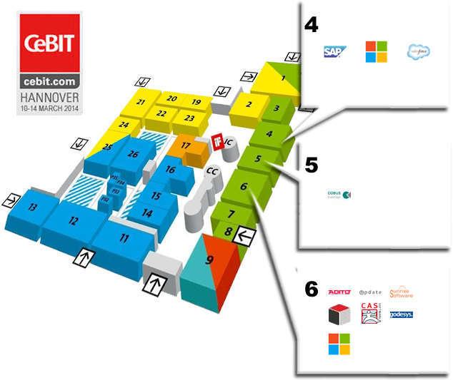 CeBIT Map 2014